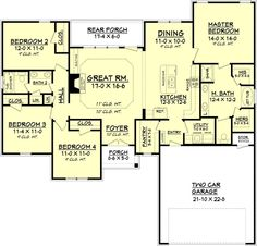 """I think this is it. I want to flip the garage to a side-entry (facing the inside) and add a 3rd bay. I also want to pull the garage forward 4-6 feet to be able to put an exterior door in the mud room. I'll relocate the master toilet to """"his"""" closet, and use the existing toilet, """"her"""" closet, and garage storage as the new walk in closet. Finally, I'll add a door from the new master closet to the utility room."""
