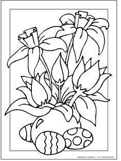 Looking for a Free Religious Easter Coloring Pictures. We have Free Religious Easter Coloring Pictures and the other about Coloring Pages it free. Flower Coloring Sheets, Easter Coloring Sheets, Spring Coloring Pages, Easter Colouring, Cross Coloring Page, Quote Coloring Pages, Coloring Pages For Kids, Coloring Book, Easter Flowers