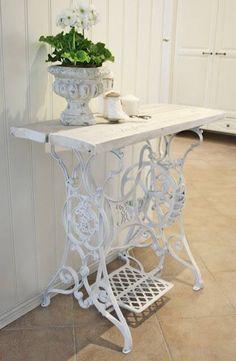 Repurposed Singer sewing table