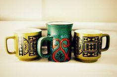 Vintage Mug Set  Photography Print by CaptainCat on Etsy, $12.00