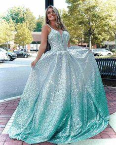 Sequin Formal Dress, Sequin Evening Dresses, Backless Prom Dresses, A Line Prom Dresses, Ball Gowns Prom, Formal Dresses For Women, Pageant Dresses, 15 Dresses, Ball Dresses