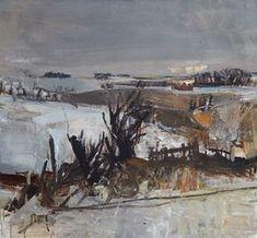 Fields Under Snow, 1958 joan eardley Landscape Artwork, Abstract Landscape Painting, Landscape Drawings, Contemporary Landscape, Landscape Illustration, Cool Landscapes, Abstract Paintings, Abstract Art, Landscape Design