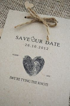 Weekly Wedding Inspiration: Cute save our date idea