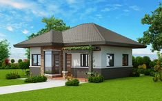Plans This elevated 3 bedroom house design has 2 toilet and bath having a floor area of 162 sq.m.. It can be built in a lot