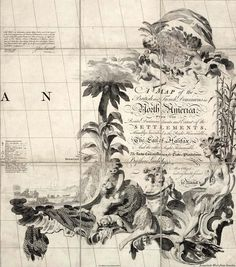 Map Cartouche of the British and French Dominions in North America