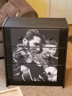 Custom Made Elvis Presley 3 Drawer Chest Nightstand Crafted by Kasondra of Sugar Coated Furniture