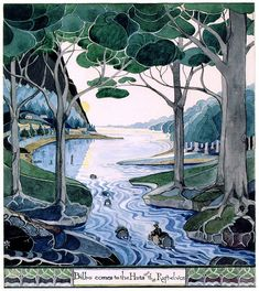 JRR Tolkien's Illustration for the Hobbit (this poster hangs in my bedroom!)
