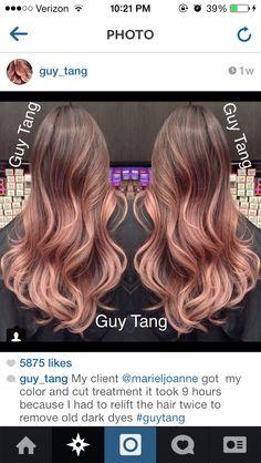 Rose gold hair!!