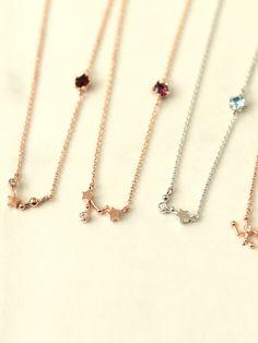 Constellation Necklace, Leo Lion, Necklace Chain Lengths, Aqua Marine, Birthstone Necklace, Sagittarius, Constellations, Birthstones, Arrow Necklace