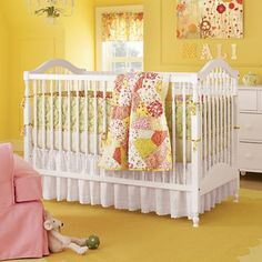 Baby Cribs: Classic White Wooden Baby Crib in Cribs