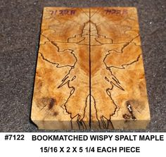 7122 Spalted Maple Jumbo Knife Scales Pen Blanks Crosscut BM Pair Wooden Jewelry Blanks Inlay Wood Miniature Turning Blank Small Craft Wood