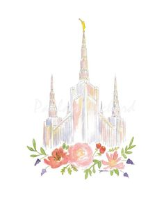 This is a high quality print of my LDS Portland Oregon Temple Watercolor. Printed on nice felt paper. Lds Temple Pictures, Pictures Of Christ, Portland Temple, Portland Oregon, Arte Lds, Paintings Of Christ, Nativity Painting, Church Backgrounds, Lds Art