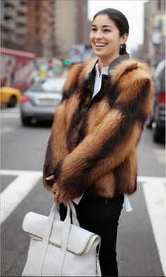 epic fur. #CarolineIssa in NYC.