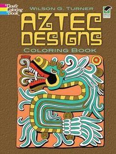 Aztec Designs Coloring Book Green Edition