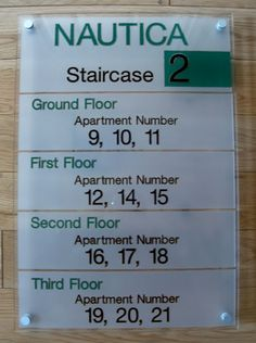 Office directory signs STAIRCASE WALL signs DIRECTORY http://www.de-signage.com/Officesigns.php