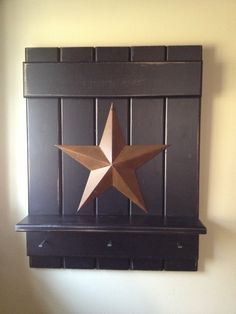 Primitive Americana country star sign shelf by QueenEmmaDesigns, $30.00
