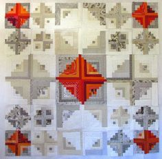 I began the year 2014 with a quilting theme, the Log Cabin. It is a very traditional pattern I have always admired so when I got a request f...