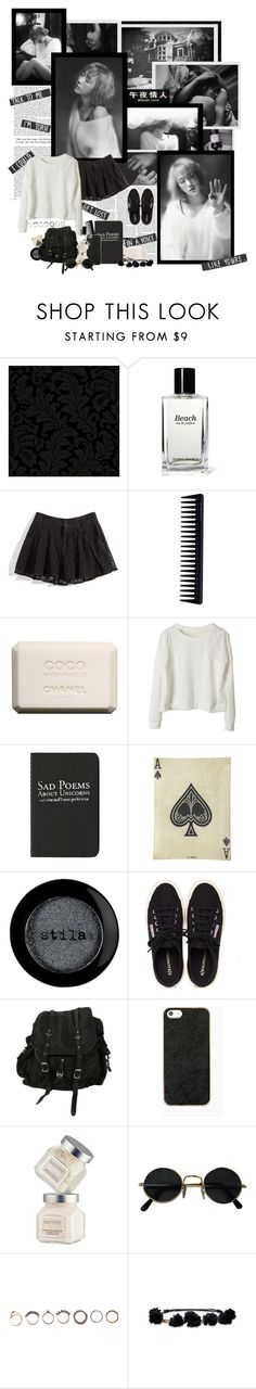 """""""In the black and white world, you were the one ray of light: By Taeyeon"""" by gisfriends ❤ liked on Polyvore featuring York Wallcoverings, Nicki Minaj, Bobbi Brown Cosmetics, GHD, Chanel, Moleskine, John Derian, Stila, Henri Bendel and AllSaints"""