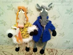 """Project by fedora.""""Mr and Mrs horse"""" crochet pattern designed by Astashova for LittleOwlsHut was used to make this toy. Pattern is for an experienced crocheters. Coat is KNITTed not crochet. Toy has a wire frame inside but can't stand on its own. Look at our other horse projects pins for Ideas how to decorate you lovely toy. #LittleOwlsHut, #Amigurumi, #Astashova, #CrochetPattern, #Horse, #DIY, #Pattern, #Toy"""
