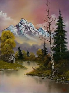 bob ross evenings glow painting - bob ross evenings glow paintings for sale. Shop for bob ross evenings glow paintings & bob ross evenings glow painting artwork at discount inc oil paintings, posters, canvas prints, more art on Sale oil painting gallery. Watercolor Landscape, Landscape Art, Landscape Paintings, Watercolor Paintings, Painting Clouds, Encaustic Painting, Watercolor Artists, Landscape Lighting, Abstract Paintings