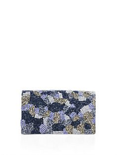 Alice + Olivia - Beaded Camouflage Clutch