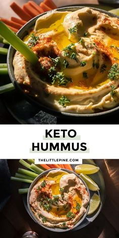 *NEW* This keto cauliflower hummus recipe is light, refreshing, addictive, and EASY to make! It's perfect paired with crackers or veggie sticks. #ketocauliflowerhummus #cauliflowerhummus #hummus #lowcarbappetizers #ketoappetizers #lowcarbappetizer #ketoappetizer Best Appetizer Recipes, Delicious Appetizers, Low Carb Appetizers, Party Appetizers, Yummy Appetizers, Dip Recipes, Paleo Recipes, Easy Dinner Recipes, Low Carb Recipes