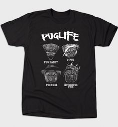 Pug Life T-Shirt - Music T-Shirt is $12 today at Busted Tees!