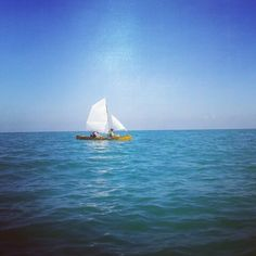 #kayakpicenum canoaautocostruita a vela