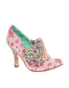 medium heel shoes | Irregular Choice Flick Flack Floral Print Mid Heel Shoe