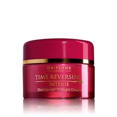 Crema de Noche Antienvejecimiento Time Reversing Intense SkinGenistII™ #oriflame