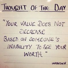 Very True! It takes 1 to know 1. 100 reasons plus or non at all. We dont know all/////Thought for the Day