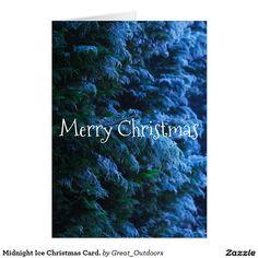 Midnight Ice Christmas Card.