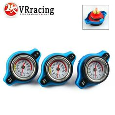 VR RACING - Thermost Radiator Cap COVER + Water Temp gauge 0.9 BAR or 1.1 BAR or 1.3 BAR Cover (small size) VR-DRC09/11/13