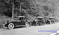 Three Nash cars in Stanley Park VPL Accession Number: 21084 Date: May 10, 1921 Photographer/Studio: Dominion Photo Co. http://www3.vpl.ca/spe/histphotos/