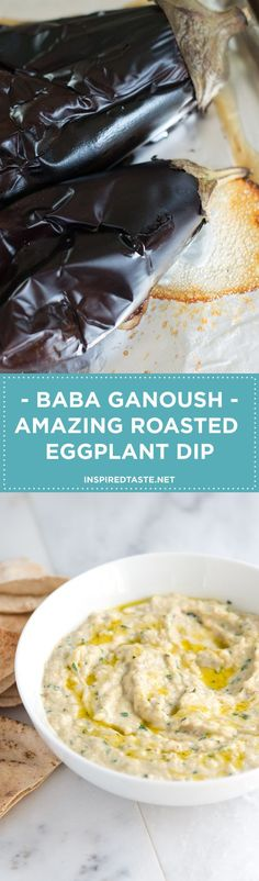 Making this Baba Ganoush recipe — an amazing roasted eggplant dip — at home is so simple. Serve with vegetables sliced bread or baked pita chips.