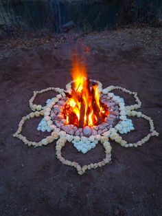 Artist Kathy Klein's winter solstice flower mandala - more: http://glad.is/article/two-amazing-and-unique-mandala-artists-two-very-different-mediums/