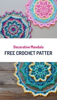 Decorative Mandala Free Crochet Pattern