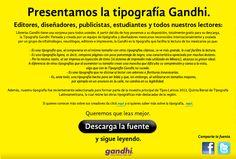 Gandhi Serif y Gandhi Sans, por Kimura+Varela, Cristóbal Henestrosa y Raúl García.