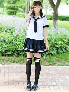 Deux tons plissé Tie école tissu Costume uniforme
