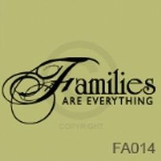 Families Are Everything Vinyl Wall Decal by TickledPinkImpress, $22.00