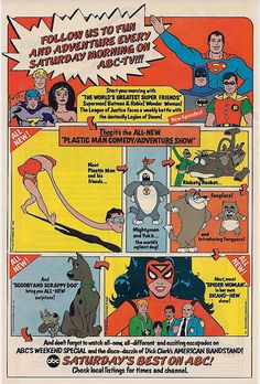 ABC Saturday Morning Cartoons ad with Scooby-Doo & Super Friends, 1979