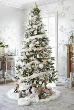 Here are best White Christmas Decor ideas. From White Christmas Tree decor to Table top trees to Alternative trees to Christmas home decor in White & Silver