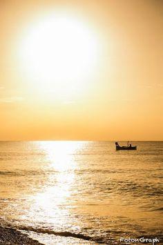 Sunrise on the fisherman of Nice