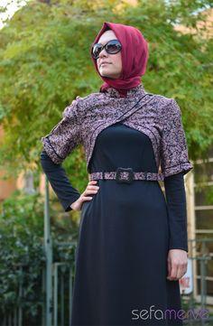Elbise ZRF Tesettür 5059-01 Bordo