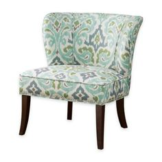 The simple yet stylish Dwell Home Marlow Accent Chair adds contemporary style and vibrant color to any office, living room or bedroom. Features a swoop-back armless design with high-density foam padding covered in splendid Bardot pattern upholstery. Wingback Accent Chair, Chair Bed, Armless Chair, Chair And Ottoman, Upholstered Chairs, Chair Cushions, Accent Chairs For Sale, Blue Accent Chairs, Restoration Hardware Chair