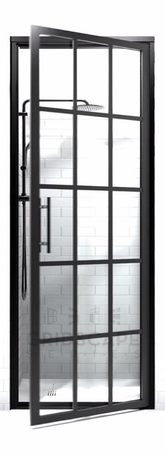 Black Frame Gridscape Shower Doors at divided.style -The store for those with a … Black Frame Gridscape Shower Doors at divided.style -The store for those with a …,Bathroom Black Frame Gridscape Shower Doors at. Bathroom Doors, Bathroom Interior, Tile Bathrooms, Dream Bathrooms, Sticker Toilette, Home Design, Coastal Shower Doors, Framed Shower Door, Master Shower