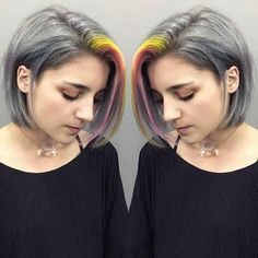 New hair pink pastel grey Ideas Hair Color 2016, Bold Hair Color, Bright Hair Colors, Pastel Colors, Pastels, Yellow Hair, Pink Hair, Grey Yellow, Blue