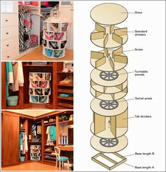 Diy Projects: DIY How to Make Lazy Susan Shoe Rack