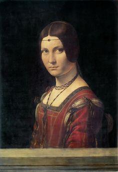 Leonardo da Vinci (1452–1519) La belle Ferroniere, circa 1490