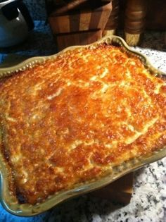 Tennessee Honey Corn Pudding - one of those dishes that once you take it to a potluck, you're asked to bring it every time. The LA Times re-tweeted it to over a half million people and you should hear the raves! You can't find anything like this in the frozen food section at the grocery. They'll scrape the bowl, or lick it if you're not watching!